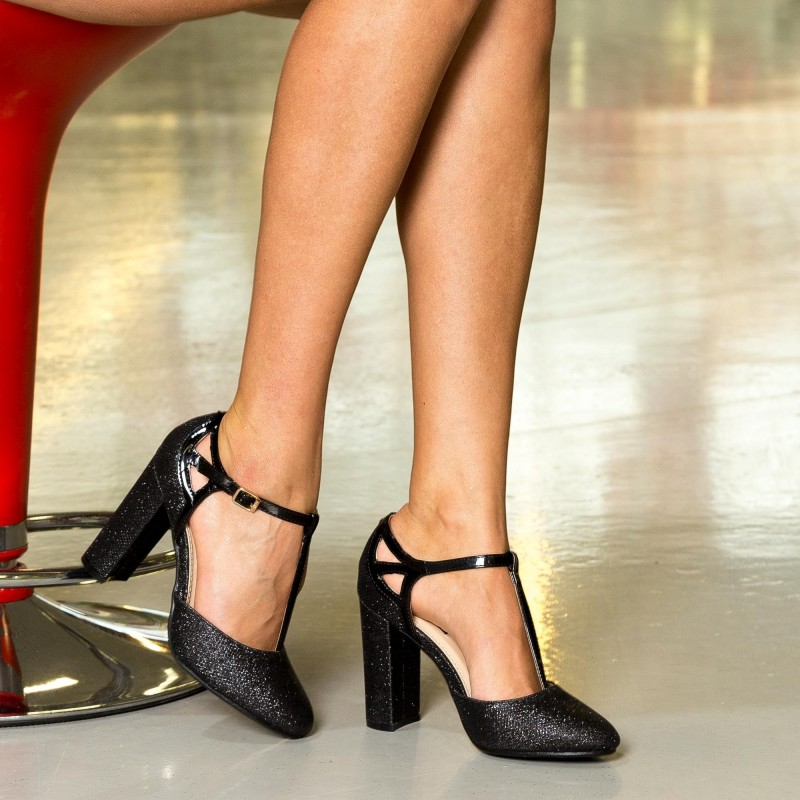 Pantofi cu Toc XKK150 Black Mei