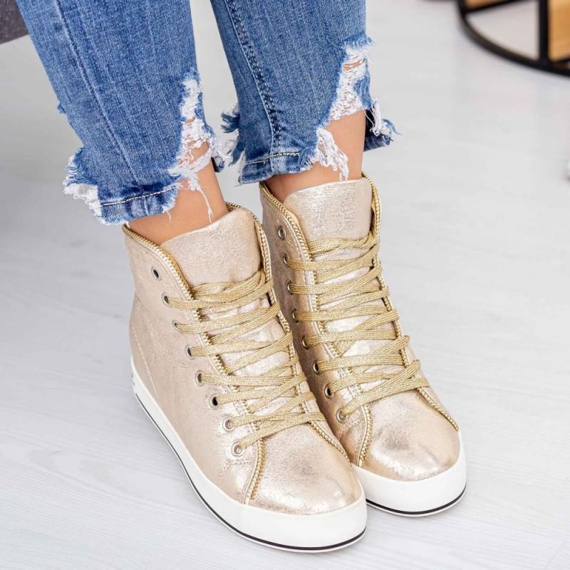 Pantofi Sport Dama K02 Auriu Mei