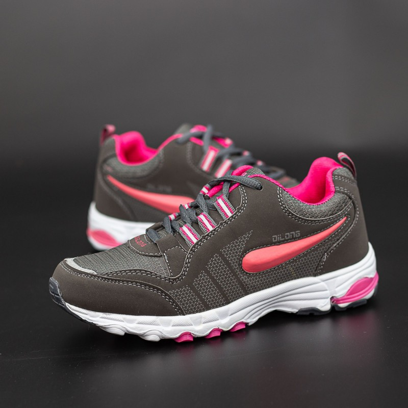Pantofi Sport Copii 1189 Gri-Rosu Mei