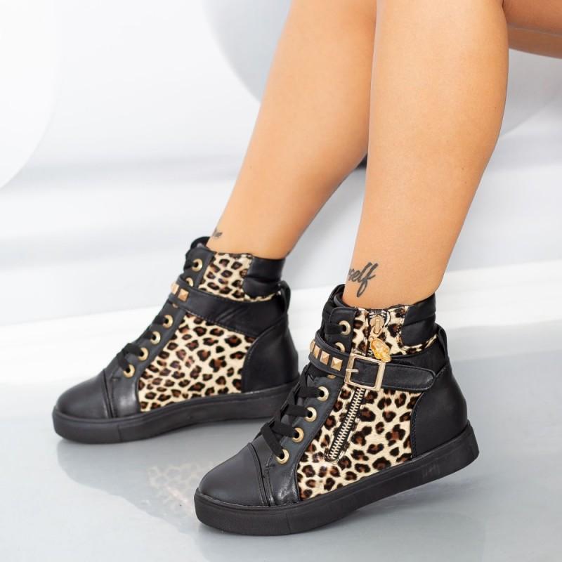 Ghete Dama 833 Negru-Leopard Mei