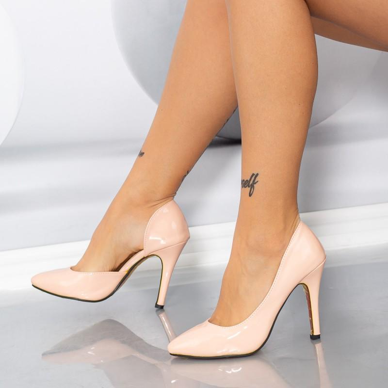 Pantofi cu Toc subtire OLMD8 Roz Mei