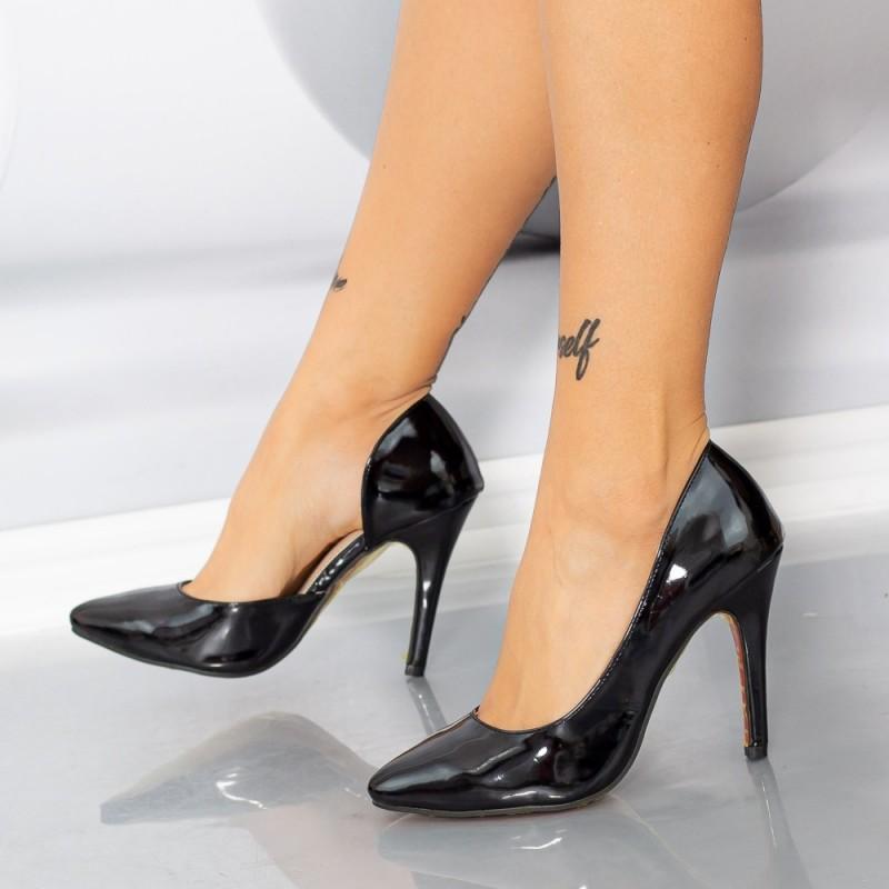 Pantofi cu Toc subtire OLMD8 Negru Mei
