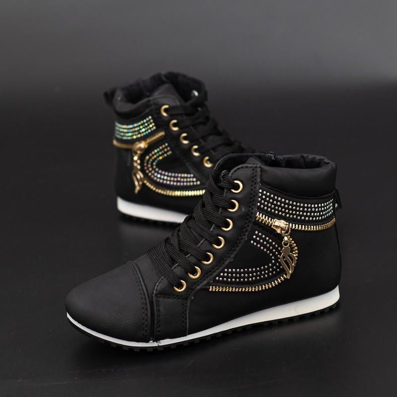 Pantofi Sport Copii T15 Negru Mei