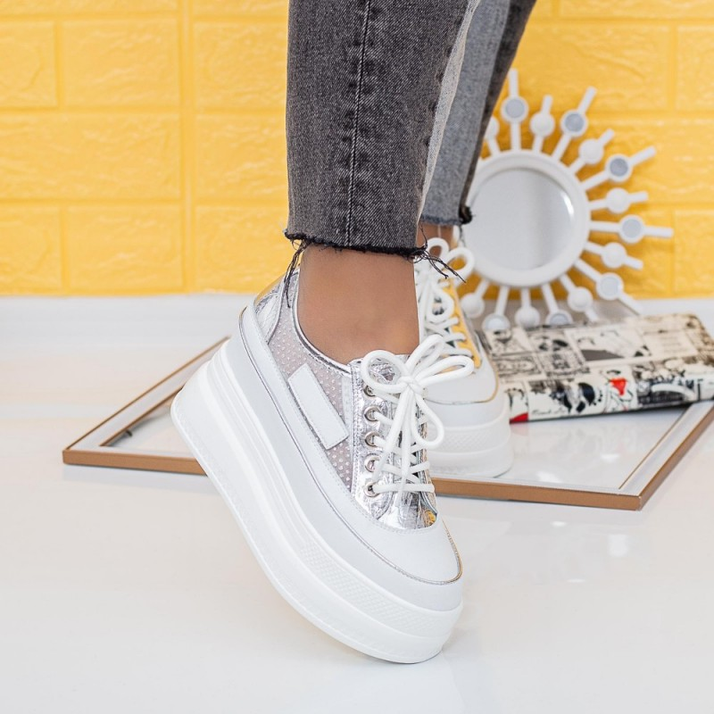 Pantofi Sport Dama SJN371 Argintiu Mei