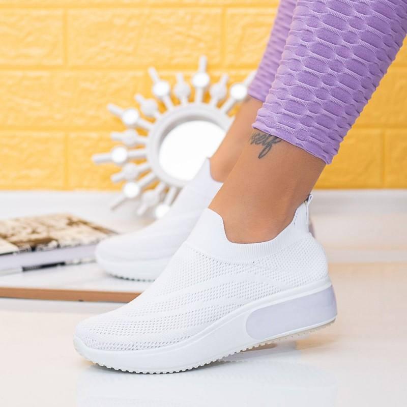 Pantofi Sport Dama TF8 Alb Mei