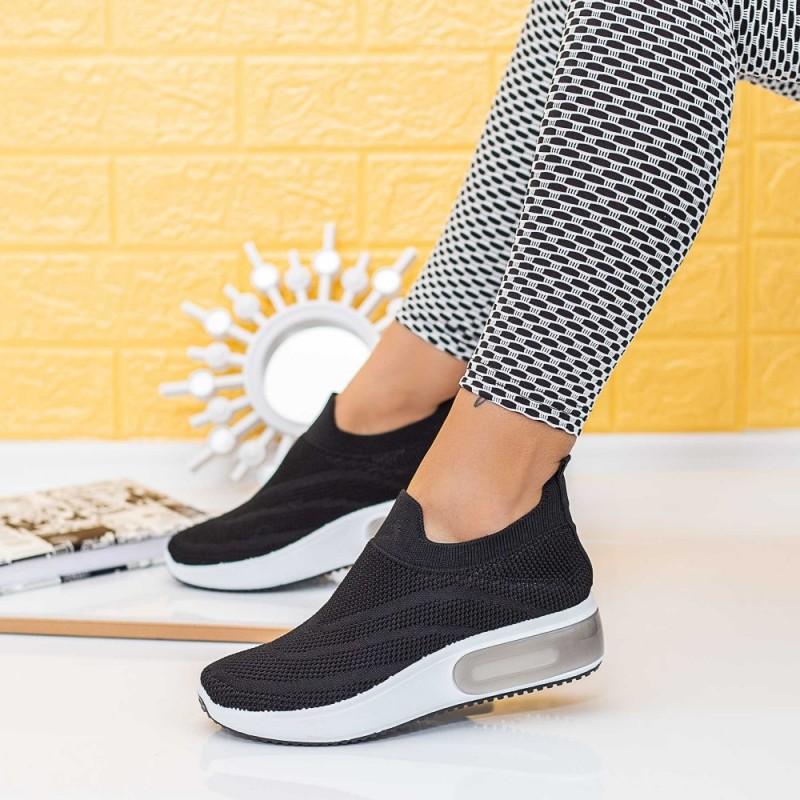 Pantofi Sport Dama TF8 Negru-Alb Mei