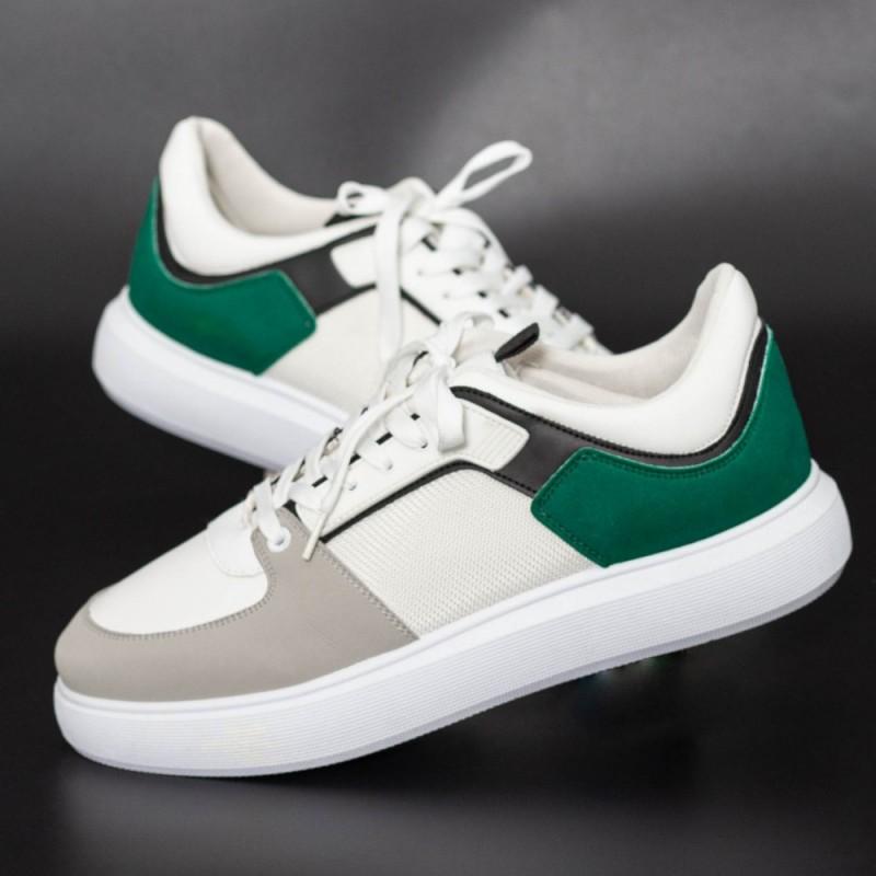 Pantofi Sport Barbati D858 Alb-Verde Se7en