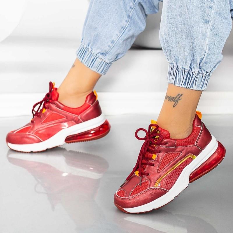 Pantofi Sport Dama X639 Rosu Se7en