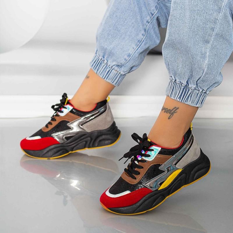 Pantofi Sport Dama X2880 Negru Se7en