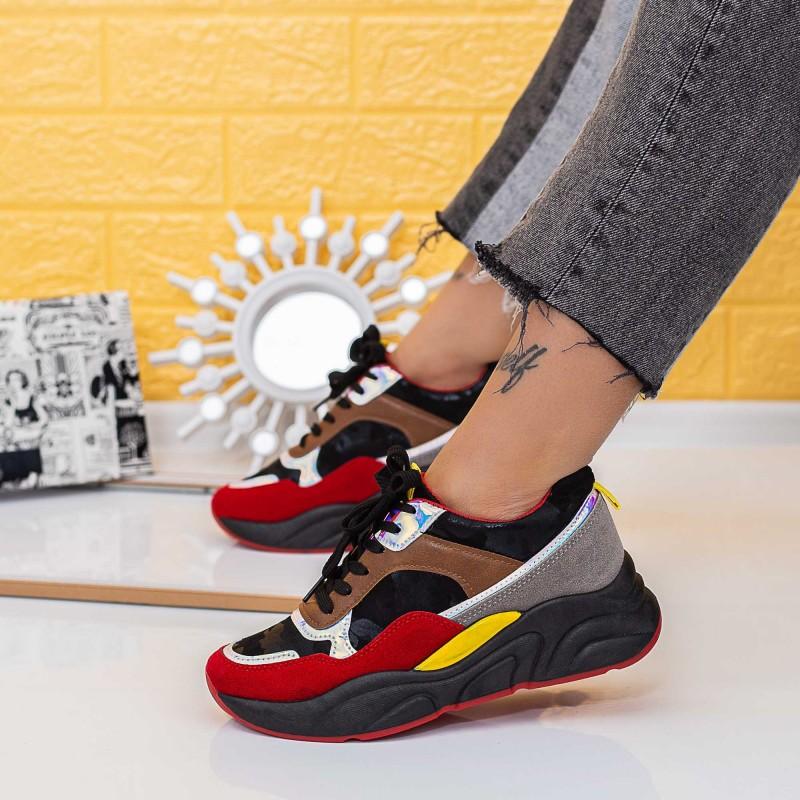 Pantofi Sport Dama X2863 Negru (N05) Se7en