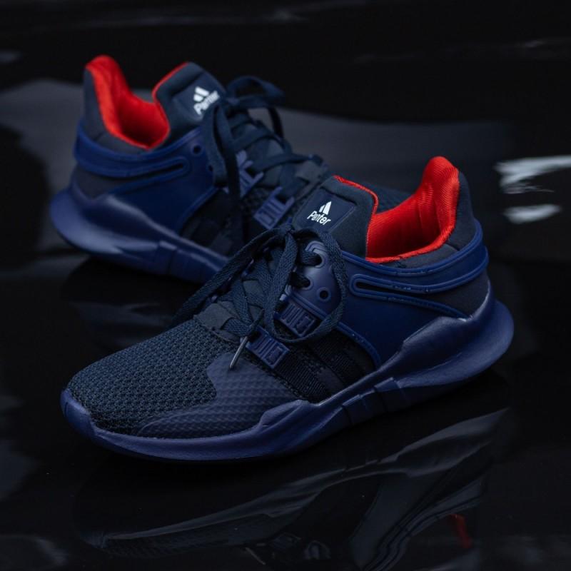 Pantofi Sport Baieti 155-B Albastru inchis-Rosu Panter
