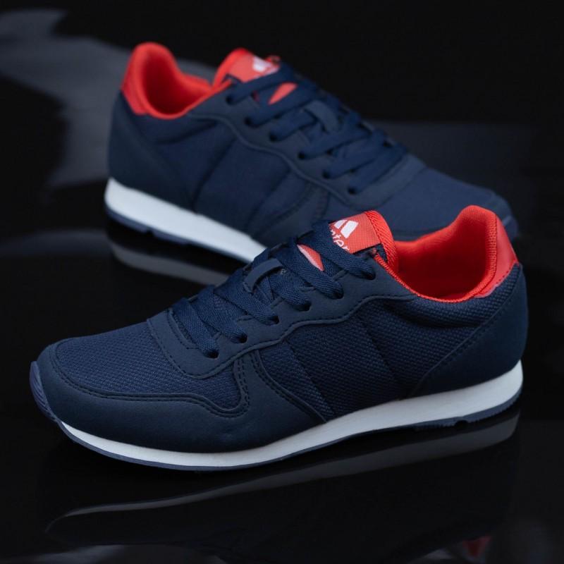 Pantofi Sport Baieti K217-C Albastru inchis-Rosu Panter