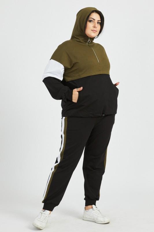 Compleu Dama BATAL 9160 Negru-Kaki Adrom