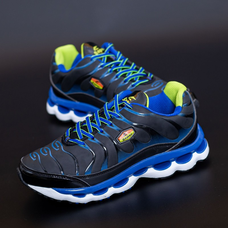 Pantofi Sport Copii M85 Negru-Albastru Mei