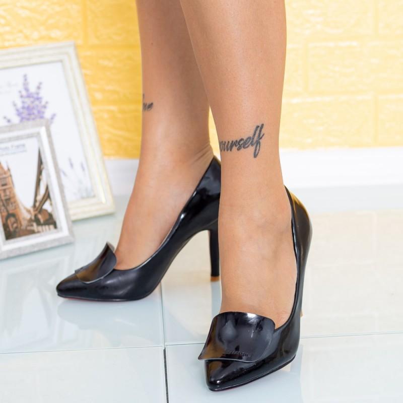 Pantofi cu Toc subtire Y230 Negru Mei