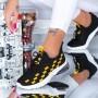 Pantofi Sport Dama LGFL1 Black-Yellow (D44 000) Mei