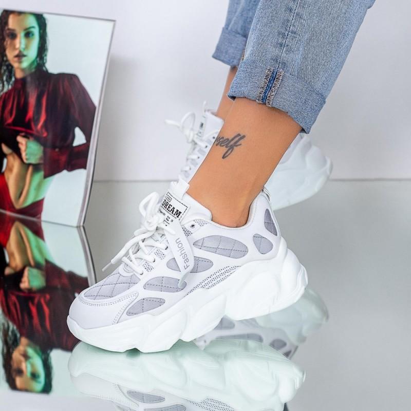 Pantofi Sport Dama 20A13 Argintiu Mei
