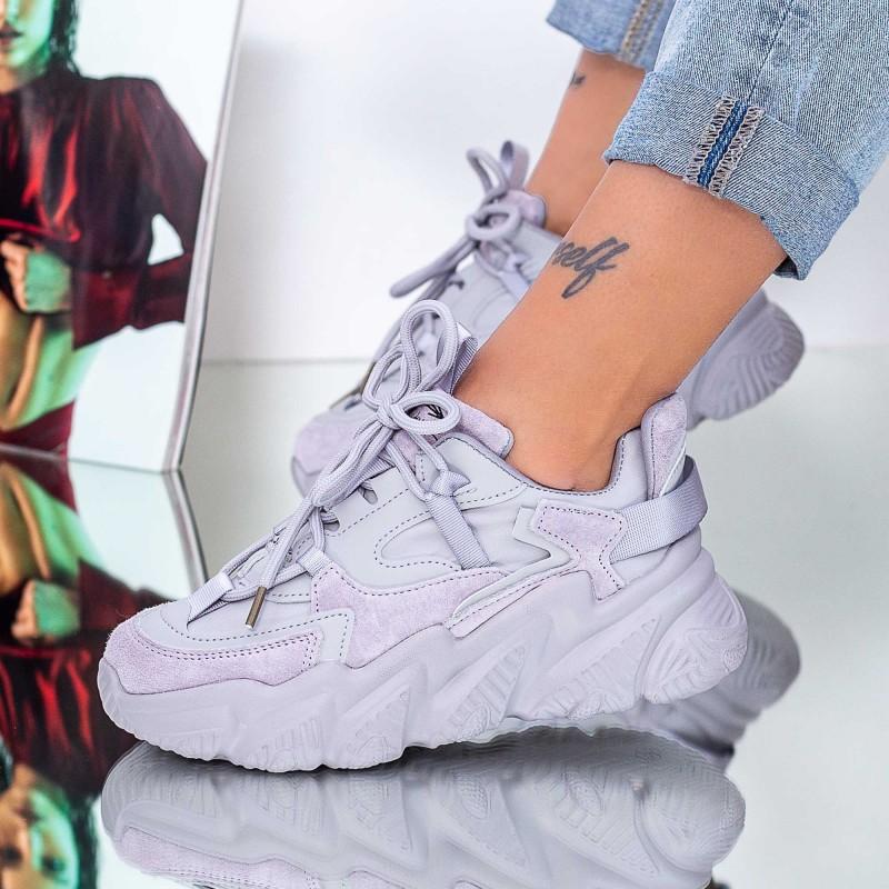 Pantofi Sport Dama SJ02 Gri Mei