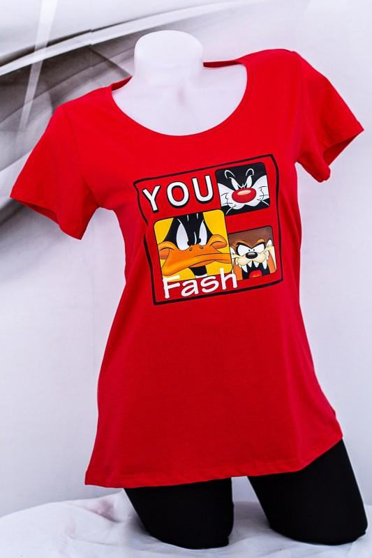 """Tricou Dama """"YOU Fash"""" 1833 Rosu Fashion"""