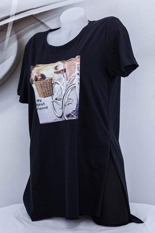 """Tricou Dama """"MY BEST FRIEND"""" 1827 Negru (G09) Fashion"""