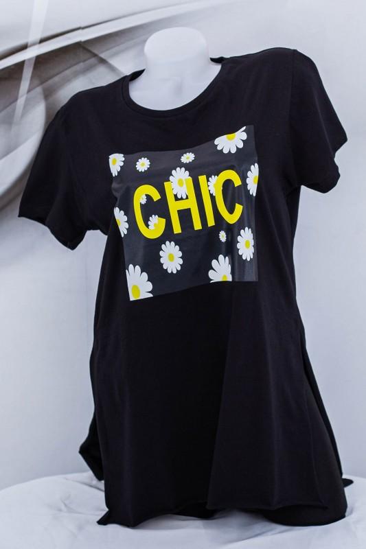 "Tricou Dama ""CHIC"" 1828 Negru (G07) Fashion"