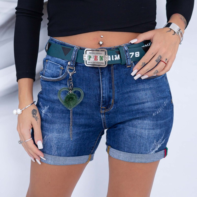 Blugi Scurti Dama OSTA712 Albastru (G04) Fashion