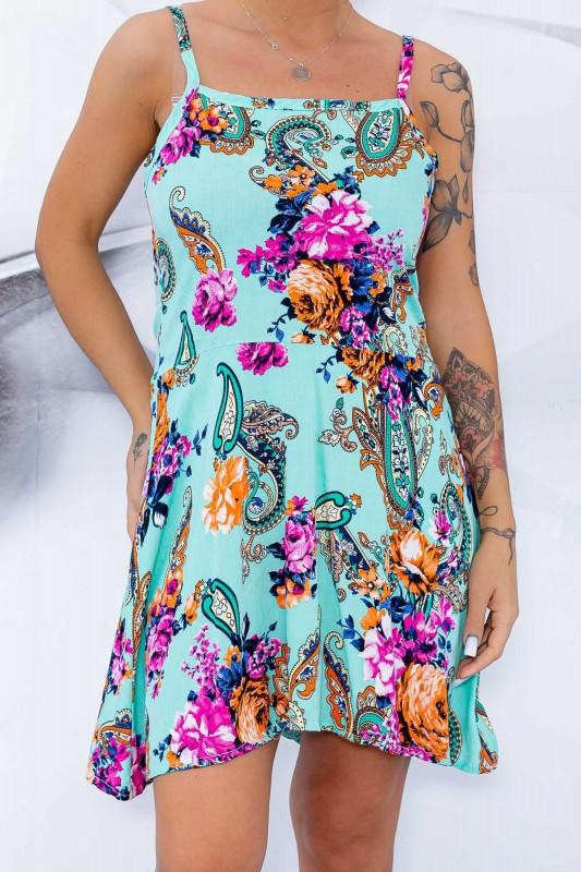 Rochie Dama 102-3 Verde Fashion