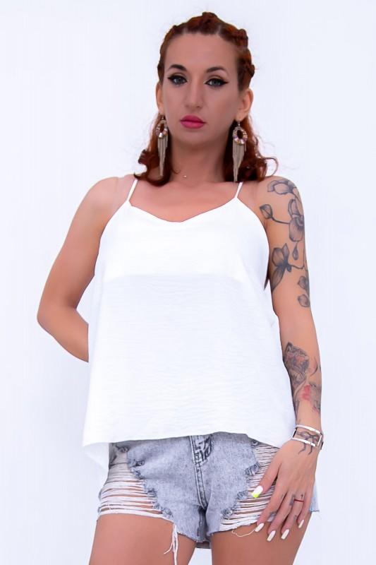 Maiou Dama 2867 Alb Fashion