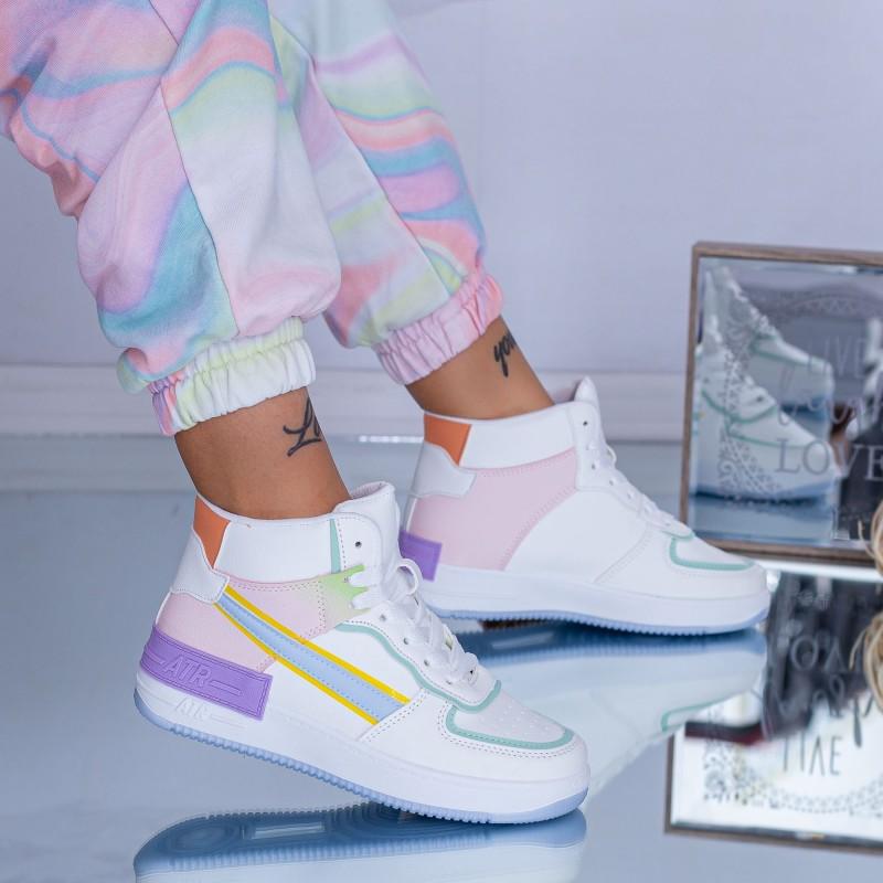 Pantofi Sport Dama AJ2 Verde-Mov ABC