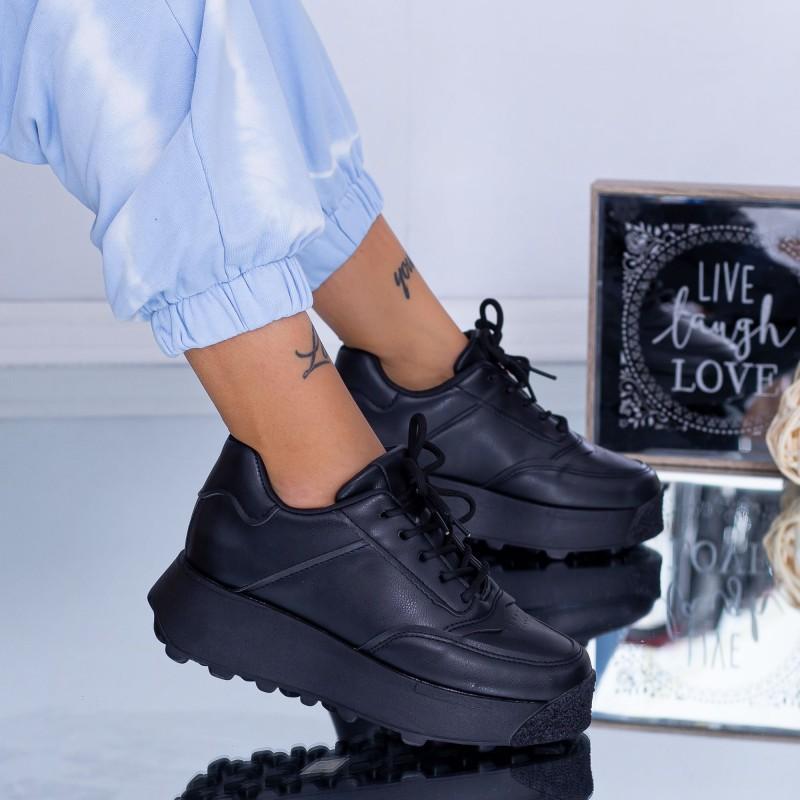 Pantofi Sport Dama C53 Negru ABC