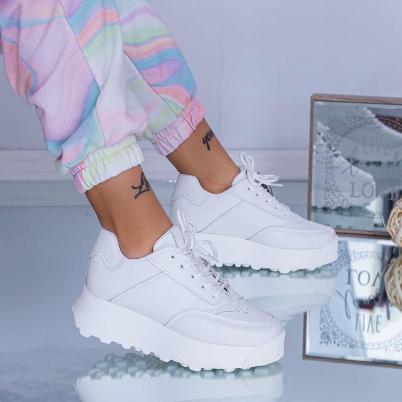Pantofi Sport Dama C53 Alb ABC
