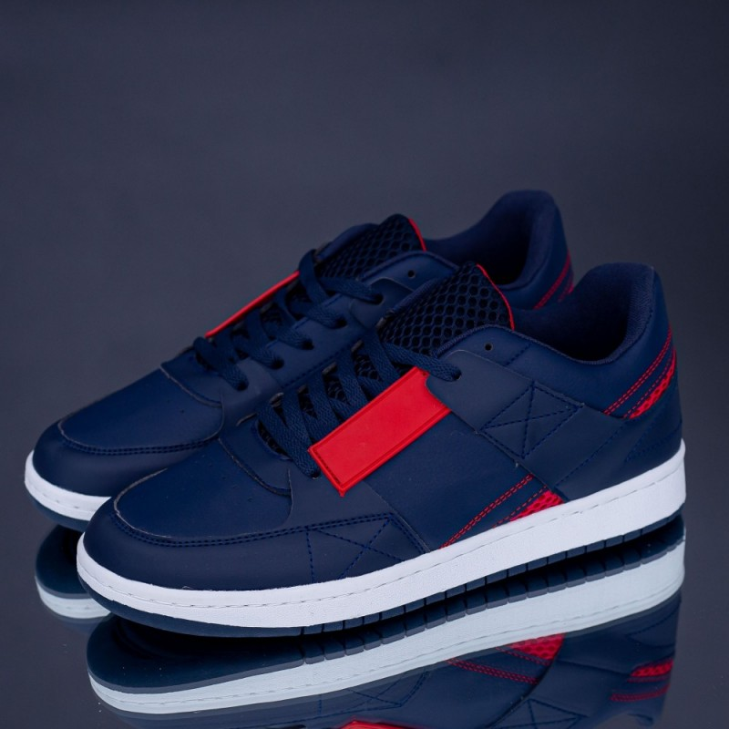 Pantofi Sport Barbati H57 Albastru inchis-Rosu Rxr