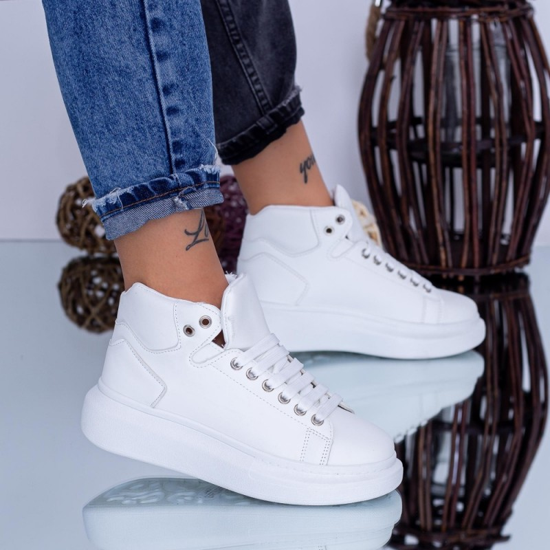 Pantofi Sport Dama 6616 Alb Fashion