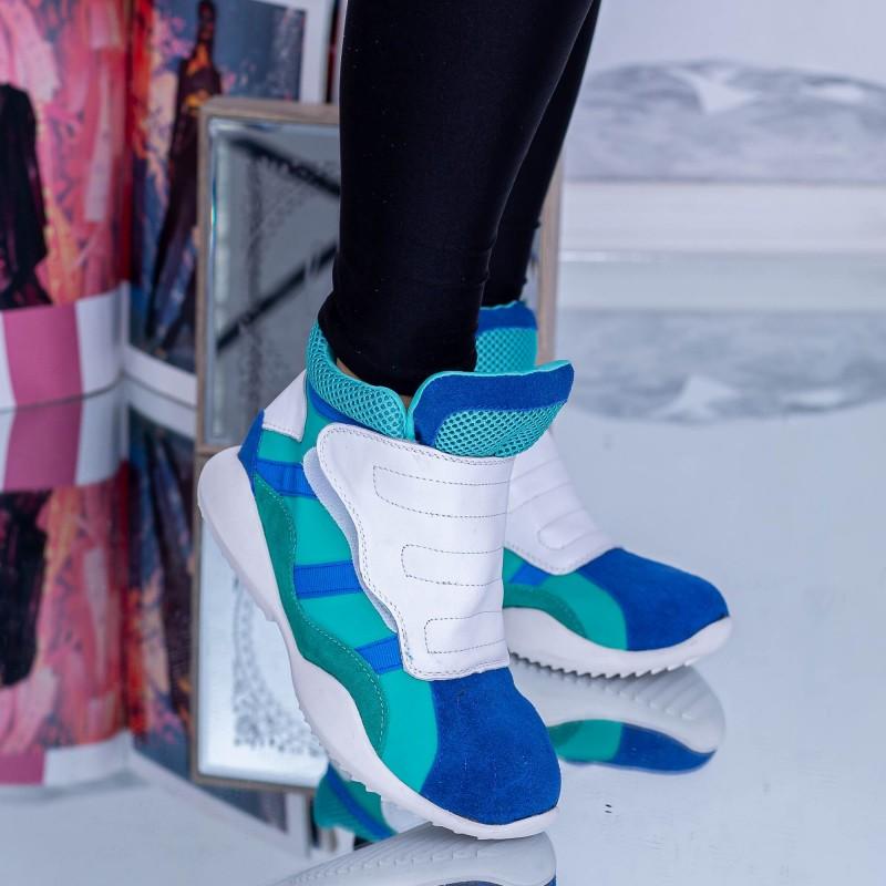 Pantofi Sport Dama 9088-3 Albastru Mei