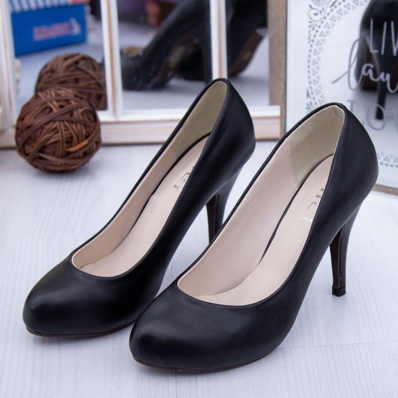 Pantofi cu Toc subtire Y13 Negru Mei