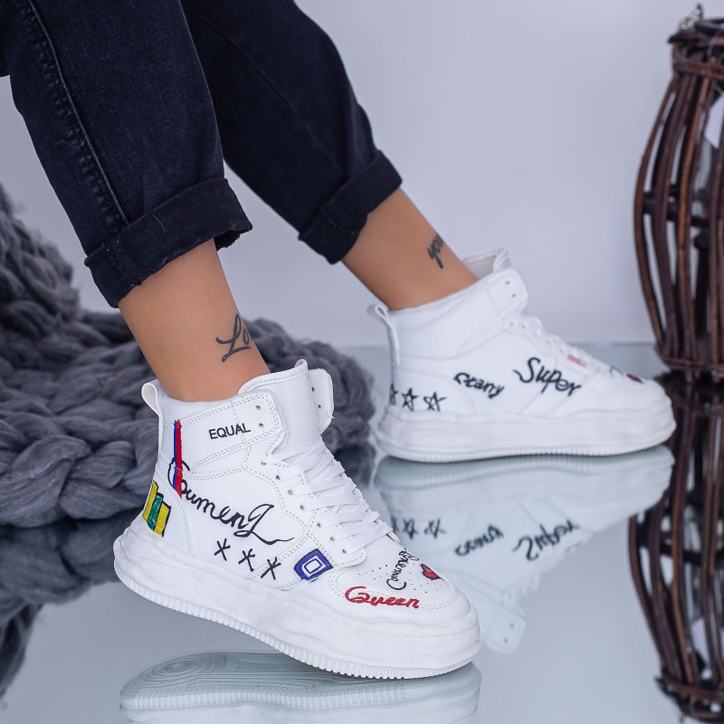 Pantofi Sport Dama B10 Alb Fashion