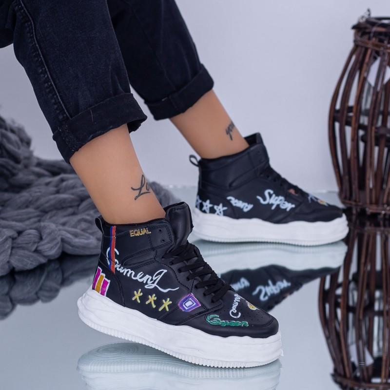 Pantofi Sport Dama B10 Negru Fashion