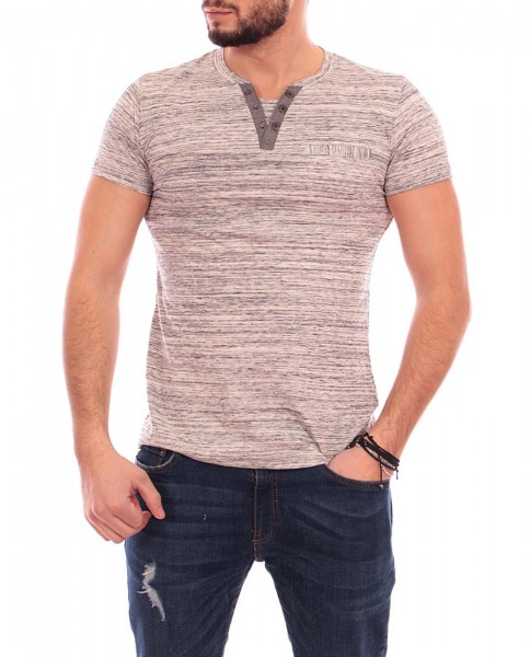 Tricou Barbat A9303 Light Grey Andrid