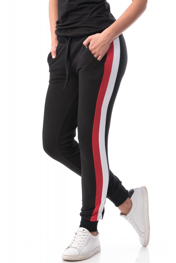 Pantaloni Dama 6745 Black-White-Red Mei