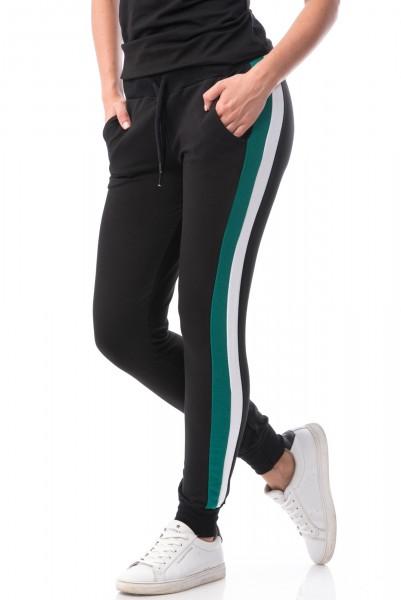 Pantaloni Dama 6745 Black-White-Green Mei