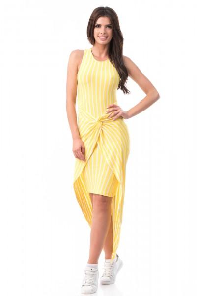 Rochie cu Dungi 6812 Yellow Mei