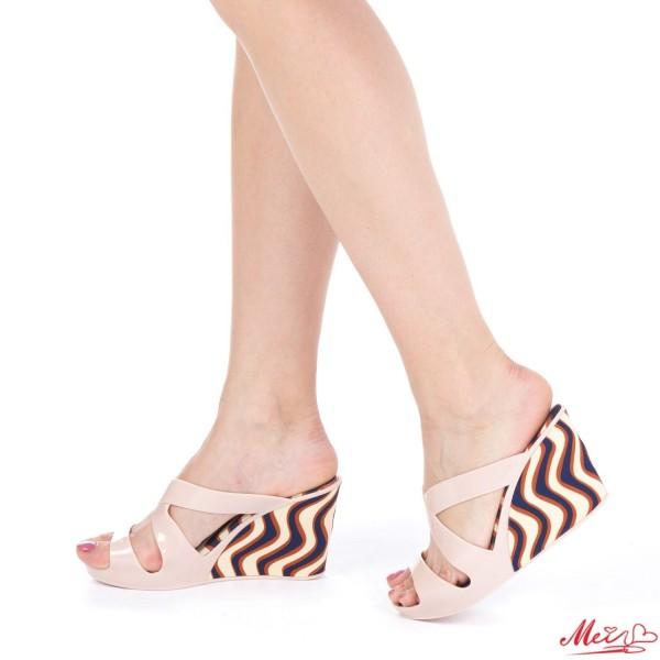 Papuci Dama cu Platforma 306 Pink Mei