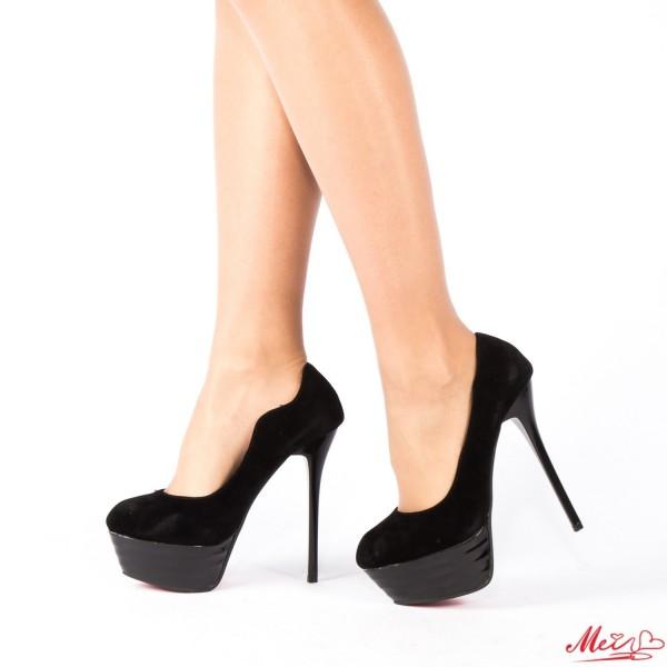 Pantofi cu Toc 628-22 Black Mei