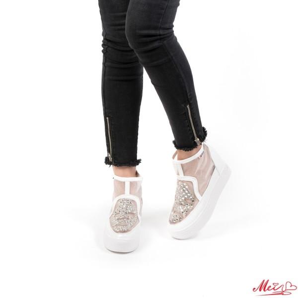 Pantofi Sport Dama cu Platforma 830 White Mei