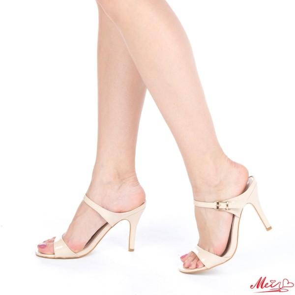 Sandale Dama cu Toc AF06 Beige Mei