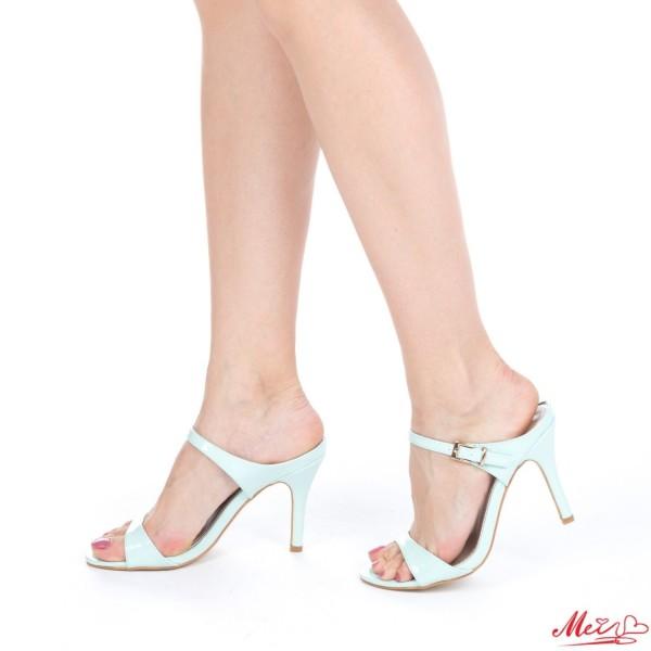 Sandale Dama cu Toc AF06 Blue Mei