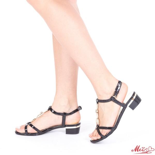 Sandale Dama cu Toc AF07 Black Mei