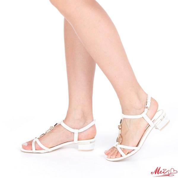 Sandale Dama cu Toc AF07 White Mei