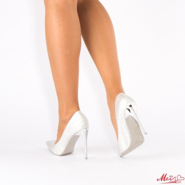 Pantofi cu Toc AF101 Silver Mei