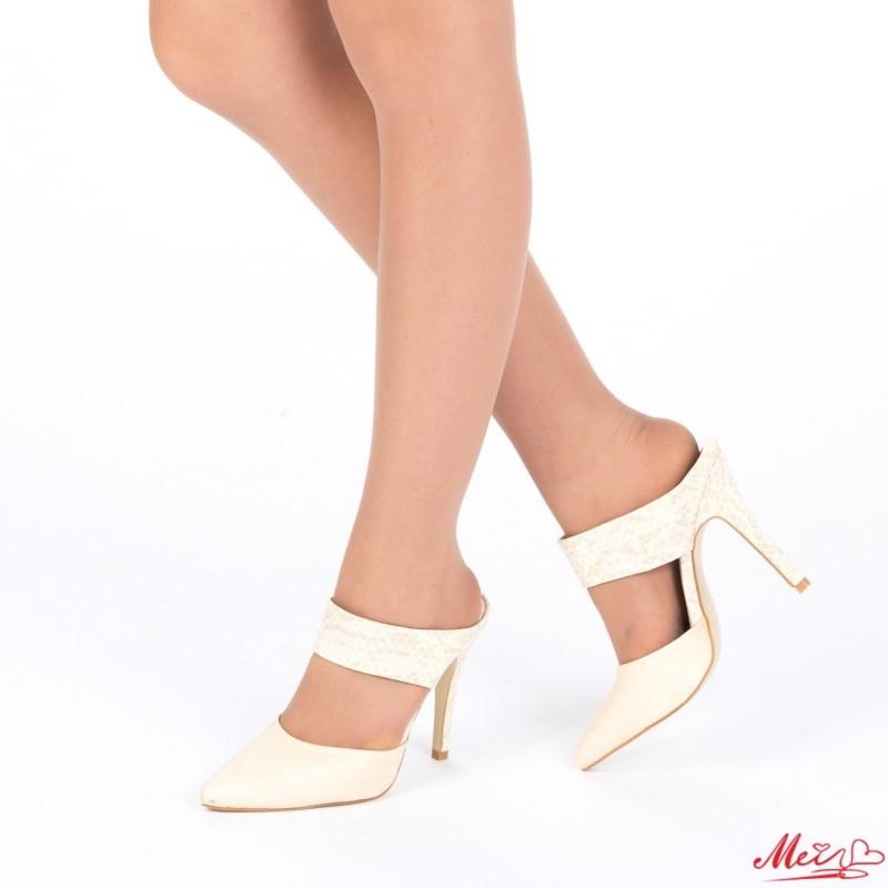 Sandale Dama cu Toc AF12 Beige Mei